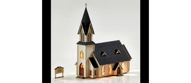 Archistories 403181 Country Church Kit