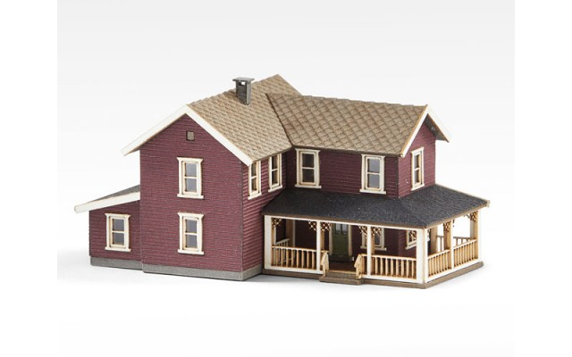 Archistories 405201 Turn of The Century House Ruby Red