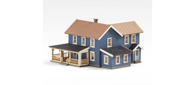 Archistories 406201 Turn of The Century House Dark Blue