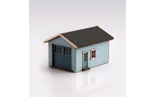Archistories 426070-LB | Single Garage Kit | Light Blue
