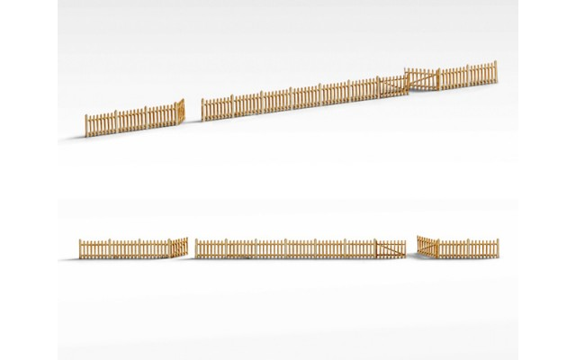 Archistories 810201 Picket Fence Kit White