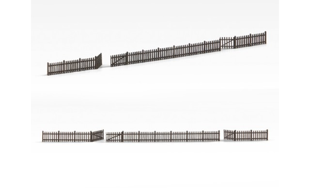 Archistories 811201 Picket Fence Kit Brown