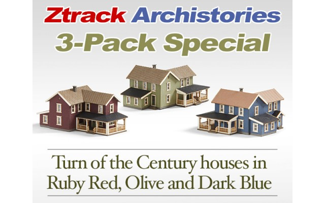 Archistories 3-Pack Turn of The Century House Kits