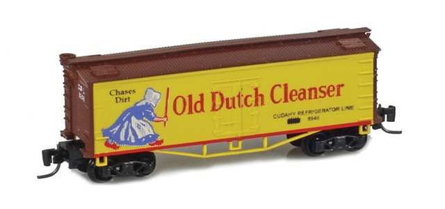 Father Nature FN-5012 Old Dutch 33' Wood Side Reefer CRL #8946 MTL Arch Bar Trucks Couplers