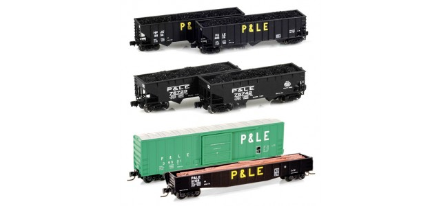 Full Throttle / Micro-Trains Line P&LE Set | 6-Car Set