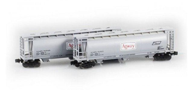 Full Throttle FT-1029-2 Agway 51' Covered Cylindrical Hoppers | 2-Car Set