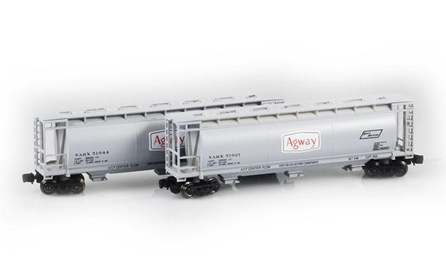 Full Throttle FT-1029-2 Agway 51' Covered Cylindrical Hoppers | 2-Car Set