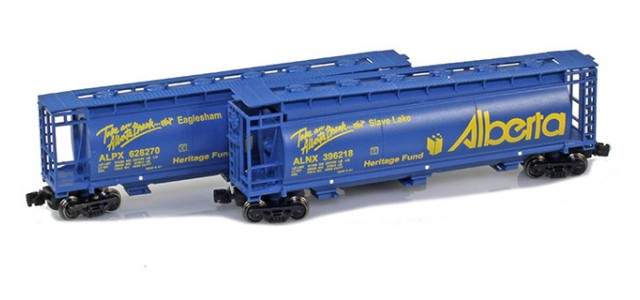 Full Throttle FT-1032-3 CN / CP 51' Covered Cylindrical Hopper | 2-Car Set