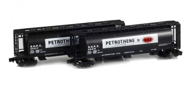 Full Throttle FT-1044-1 USI - Petrotene 51' Covered Cylindrical Hoppers | 2-Car Set