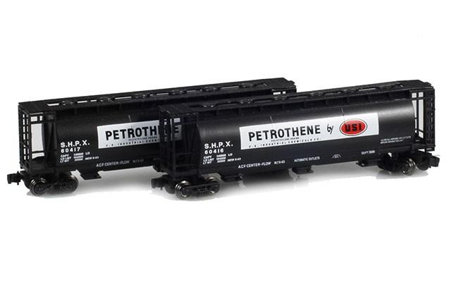 Full Throttle FT-1044-1 USI - Petrotene 51' Covered Cylindrical Hoppers | 2-Car Set