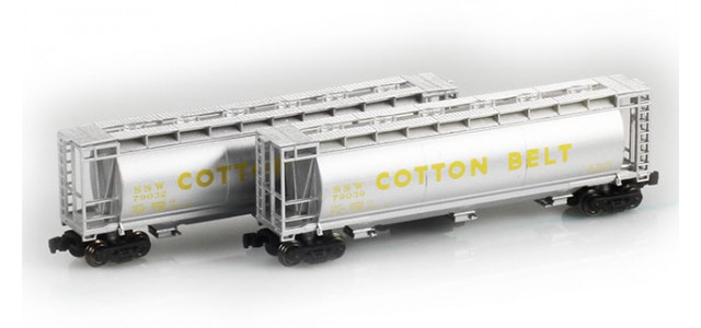 Full Throttle FT-1045 SSW Cotton Belt 51' Cylindrical Hoppers | 2-Car Set