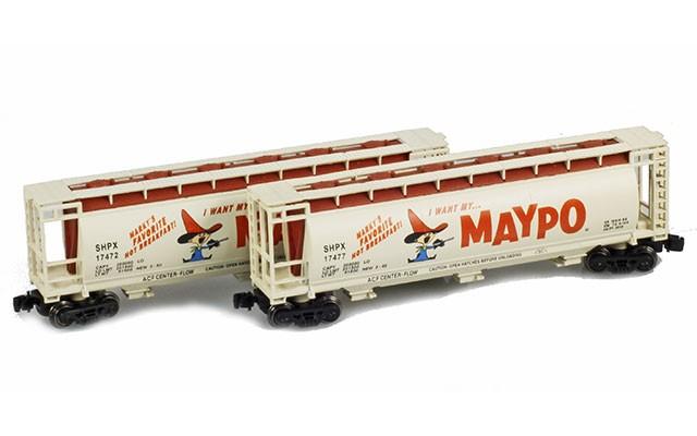 Full Throttle FT-1049-1 SHPX Maypo 51' Covered Cylindrical Hoppers   2-Car Set