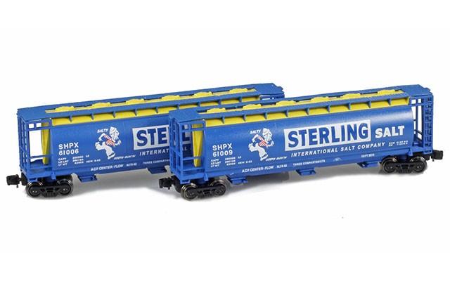 Full Throttle FT-1052 Sterling Salt Covered Cylindrical Hoppers | 2-Car Set