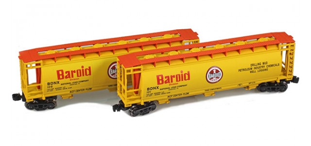 Full Throttle FT-1054 BDNX | Baroid 51' Covered Cylindrical Hoppers | 2-Car Set