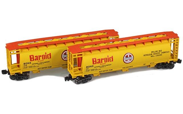 Full Throttle FT-1054 BDNX | Baroid 51' Covered Cylindrical Hoppers | 2-Car Set