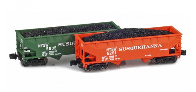 Full Throttle FT-3041 NYSW 2-Bay Offset-Side Hoppers | 2-Car Set