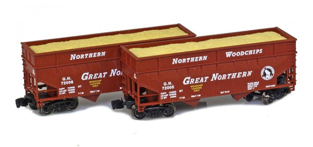 Full Throttle FT-3408 33' Great Northern Offset-Side 2-Bay Hoppers | 2-Car Set