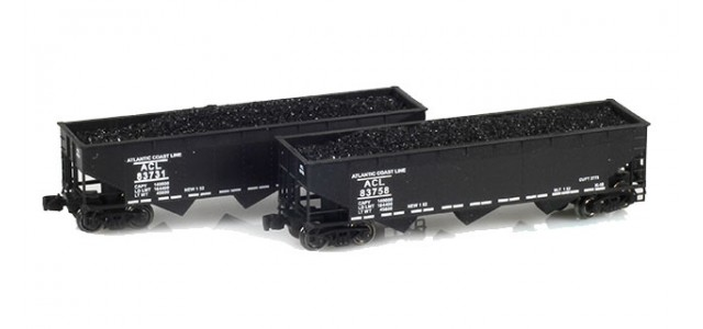 Full Throttle FT-4024 ACL 40' Offset-Side 3-Bay Hoppers | 2-Car Set