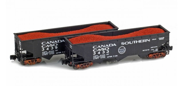 Full Throttle FT-4028-1 Canada Southern 40' Offset-Side 3-Bay Hoppers | 2-Car Set