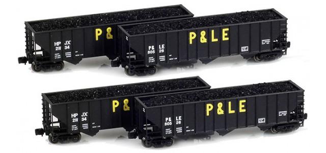 Full Throttle FT-8006-3 P&LE, HPJX 100-Ton Hoppers 4 Unique Road Numbers | 4-Car Set