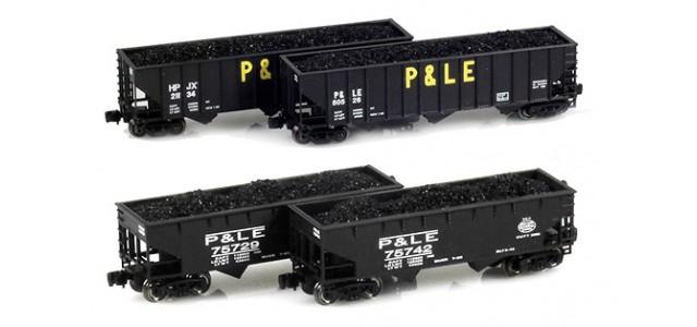 Full Throttle FT-8006-4 P&LE, HPJX 100-Ton Hoppers 4 Unique Road Numbers | 4-Car Set