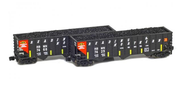Full Throttle FT-8019 RBMN 100-Ton Rib-Side 3-Bay Hoppers | 2-Car Set