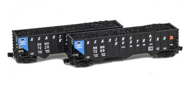 Full Throttle FT-8020 RBMN 100-Ton Rib-Side 3-Bay Hoppers | 2-Car Set