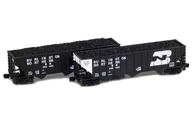 Full Throttle FT-8029-1 BN 100-Ton Rib-Side 3-Bay Hoppers | 2-Car Set