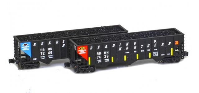 Full Throttle FT-COL-52 RBMN 100-Ton Rib-Side 3-Bay Hoppers   2-Car Set