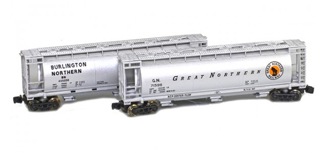 Full Throttle FT-COL51 BN & GN 51' Covered Cylindrical Hoppers   2-Car Set