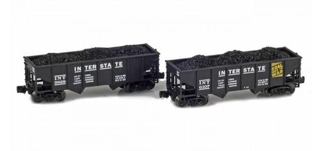 Full Throttle FT-2051-1 Interstate Rib-Side 2-Bay Hoppers|  2-Car Set