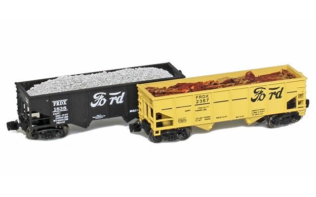 Full Throttle FT-2047-2048 Ford Rib-Side 2-Bay Hoppers | 2-Car Set