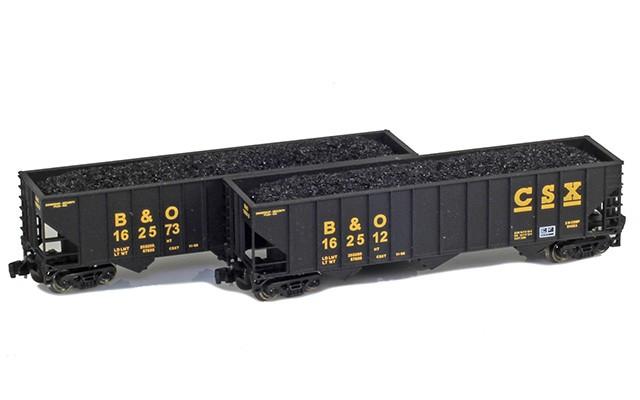 Full Throttle FT-8021 CSX - B&O 100-Ton Rib-Side Hoppers | 2-Car Set