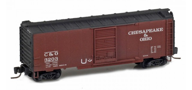 Micro-Trains 50044760 C&O 40' Single Door Boxcar Weathered Hobo Tagging #3203