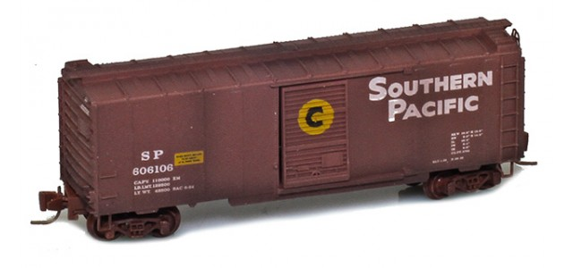 Micro-Trains 50044990 SP 40' Single Door Boxcar Factory Weathered  #606106