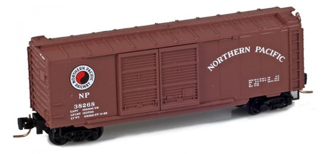 Micro-Trains 50100282 Northern Pacific 40' Double Door Boxcar #38296