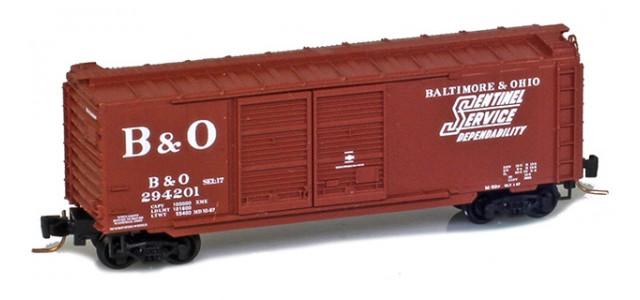 Micro-Trains 50100291 B&O 40' Standard Boxcar Double Doors #294201