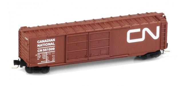 Micro-Trains 50600281 CN 50' Standard Boxcar Double Doors #551009