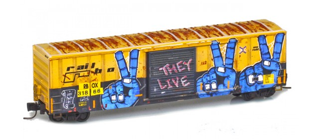Micro-Trains 51045223 RBOX 50' Single Door Boxcar #161816 Railbox Series 2 of 11 | World Peace Day