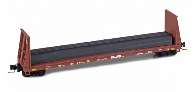 Micro-Trains 52700161 NS 60' Bulkhead Flat Car #118045