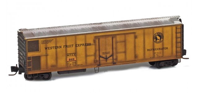 Micro-Trains 54844040 WFEX 51' Rivet Side Mechanical Reefer #809 Factory Weathered