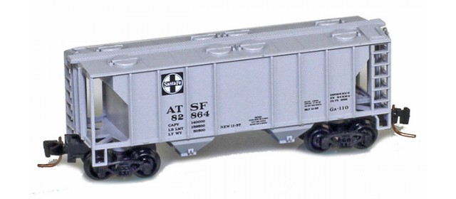 Micro-Trains 53100074 ATSF PS-2 2-Bay Covered Hopper #82864