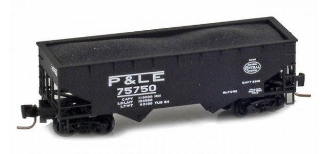 Micro-Trains 53300132 P&LE Twin Bay Offset Side Hopper #75778