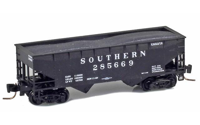 Micro-Trains 53300151 SOU 33' Twin Bay Offset Side Hopper #285669