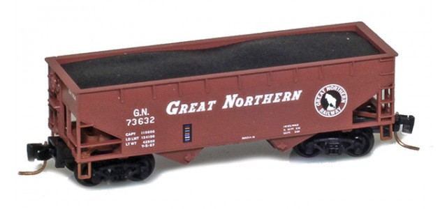 Micro-Trains 53300161 Great Northern 33' Twin Bay Offset Side Hopper #73632