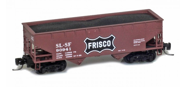 Micro-Trains 53300171 Frisco 33' Twin Bay Offset Side Hopper #90941