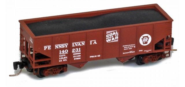 Micro-Trains 53400111 PRR 33' Two-Bay Rib-Side Hopper #139876