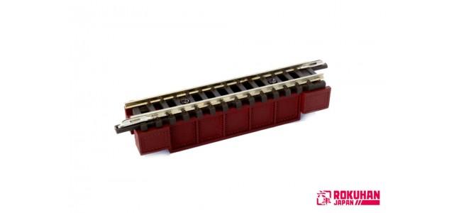 Rokuhan R085 Deck Girder Bridge 55mm | Dark Red