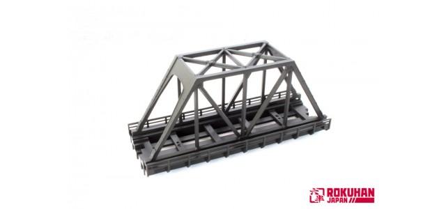 Rokuhan R090 Iron Bridge 110mm | Dark Gray