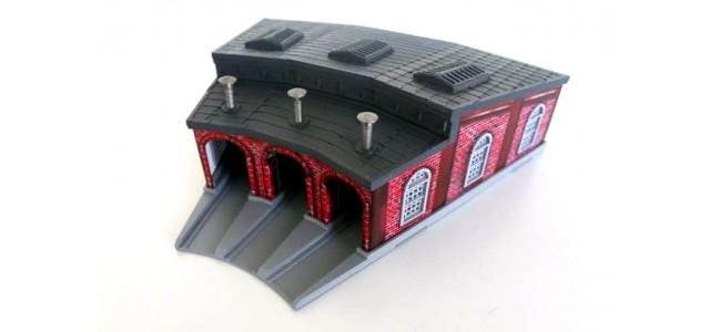 Rokuhan S038 Three Stall Engine House